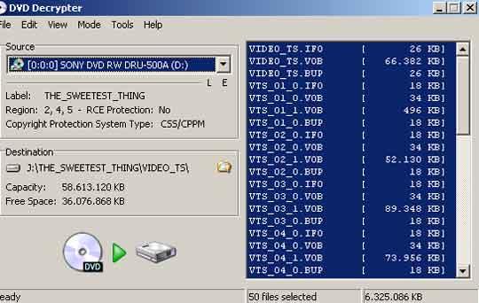 DVDdecrypter is misschien wel de beste ripper op het internet.