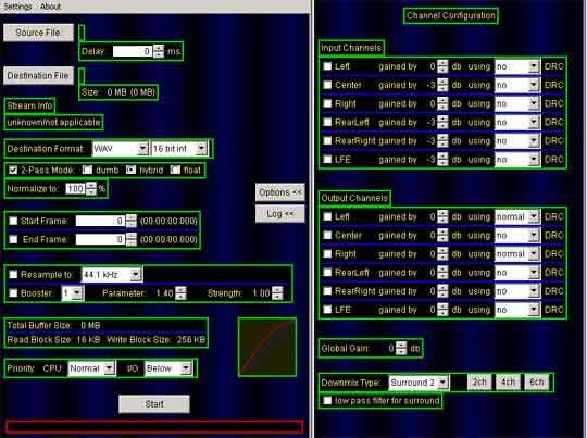 HeadAC3 is een zeer efficiënte audioconverter.