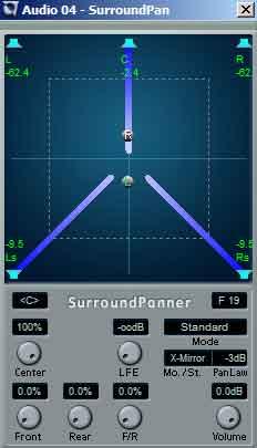 Nuendo biedt een aantal opties die het u eenvoudiger maken geluid te positioneren.