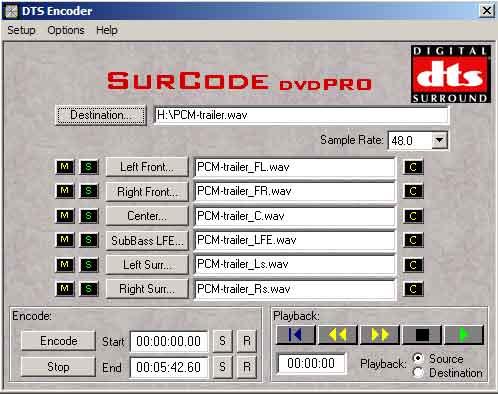 Er zijn nog niet al te veel stand alone encoderingsprogramma's voor geluid.