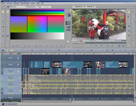 Met de primaire en secundaire kleurcorrectiemogelijkheden geeft u uw film iedere gewenste kleur.