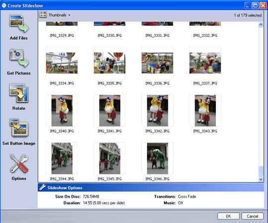 DVD's met een slideshow kunnen tevens worden gebruikt om uw originele digitale foto's te archiveren.