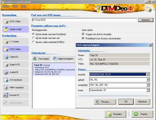 DVDeo is overzichtelijk en eenvoudig te bedienen.