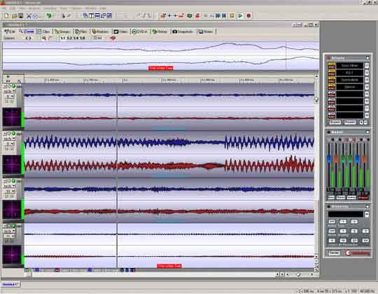 Een van de nieuwe functies van Wavelab 5 is het creëren van dvd-audio inclusief bijbehorende menu's.