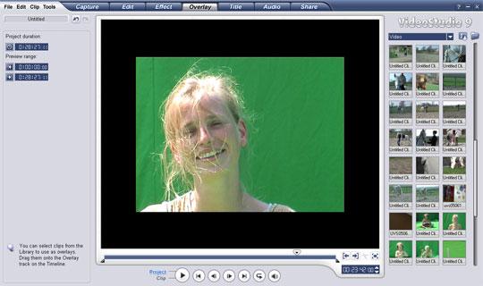 Chroma-keying behoort nu ook tot de mogelijkheden van VideoStudio 9.