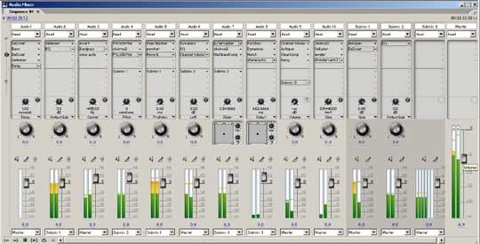 De mixer is onmisbaar bij de audionabewerking.