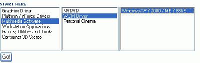 Bij Nvidia kunt u de laatste versie downloaden van de wdm-capture driver.
