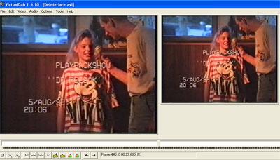 Deze beelden van een opname op vhs uit 1992 zijn met Virtualdub goed op te poetsen.
