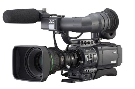 JVC's prosumer hd-camera met verwisselbare lens.