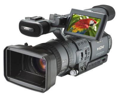 De professionele variant van Sony's hdv camera de FX1