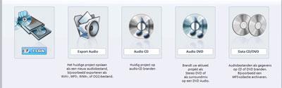 Vanuit een wav-bestand kunt u exporteren met kwaliteit naar ieder gewenst formaat.