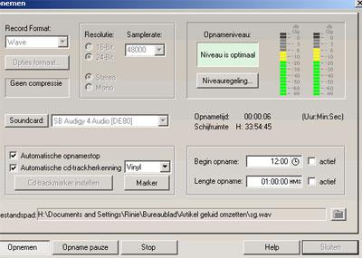 Automatische cd- trackherkenning scheelt veel knip en plak werk.