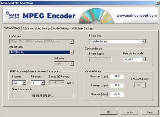 De mpeg-encoder van Mainconcept die in tal van video-applicaties wordt gebruikt, is ook als stand-alone verkrijgbaaren en levert een perfect resultaat af.