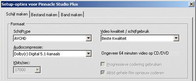 Exporteren naar hd dvd of blu-ray is voor Pinnancle Studio geen enkel probleem.
