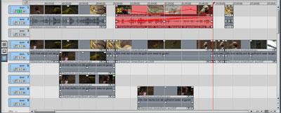 De interface van Magix Video Deluxe ziet er goedkoop en rommelig uit.