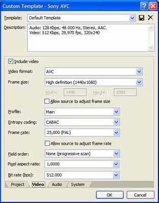 Ook Sony Vegas Video kan exporteren naar hd-codecs. Het is alleen jammer dat het branden naar blu-ray niet wordt ondersteund.
