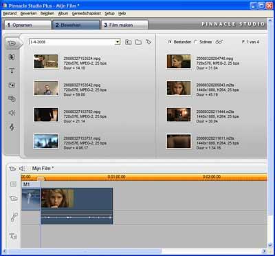 Maar weinig videosoftware is in staat om het nieuwe avchd bestandsformaat met het achtervoegsel m2ts in te laden. Pinnacle Studio kan dit wel.