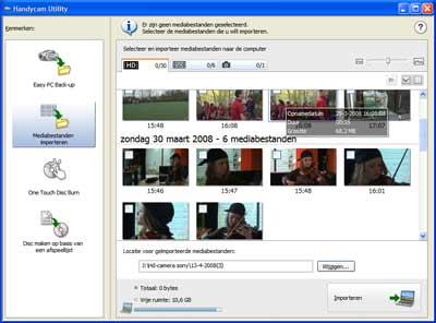 De software die bij de camera wordt geleverd is vaak de enige mogelijkheid om de hd-beelden te kunnen bekijken.