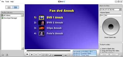 Met de gratis DivX Player kunt u alle Divx movie bekijken op uw pc.