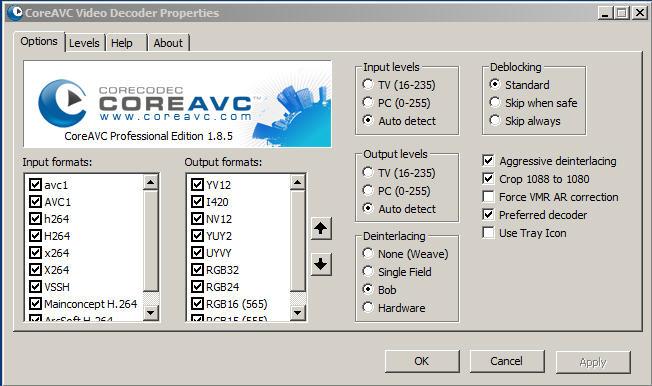 coreavc-settings