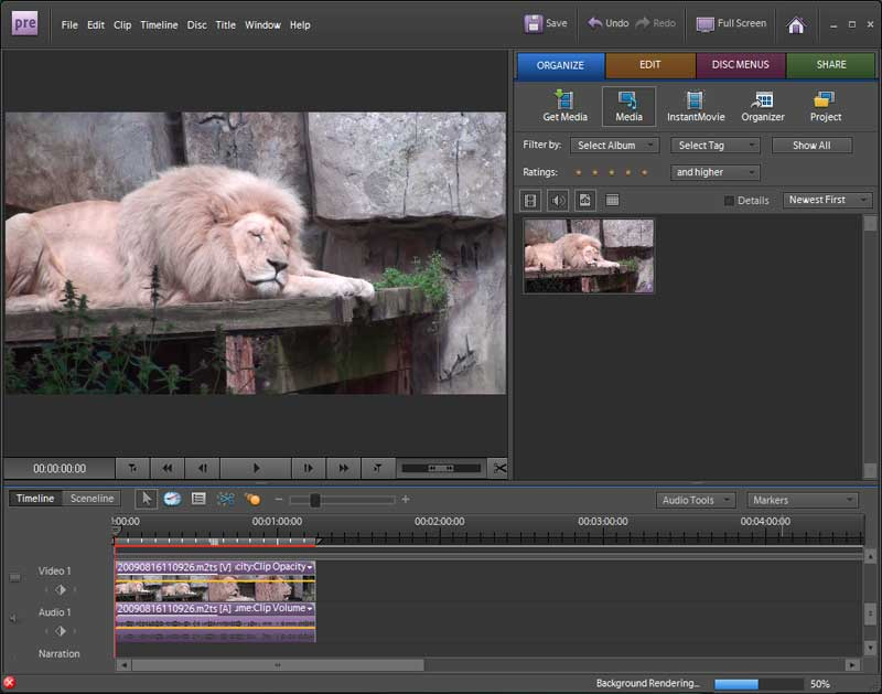 adobe-premiere-elements-8-import-avchd-vanuit-organizer