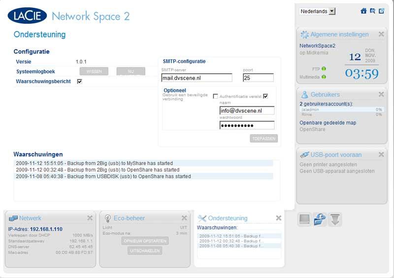 lacie-network-space-2-ondersteuning