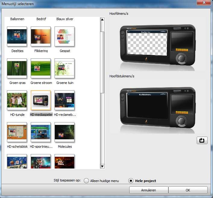 roxio-creator-2010-menustijlen