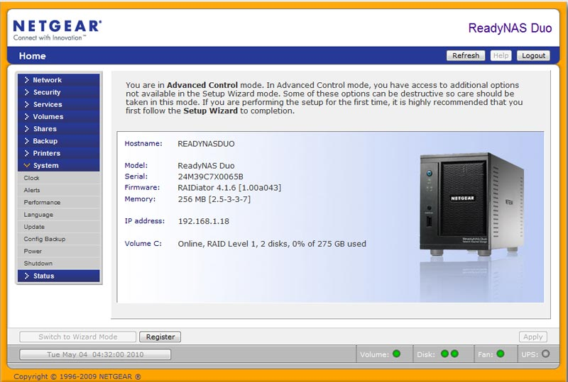 nas-test-netgear-home