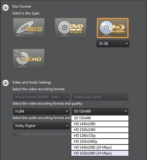 powerdirector-9-disk-opties