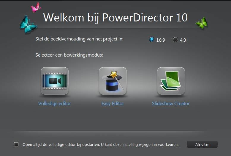 cyberlink-powerdirector-10-startscherm
