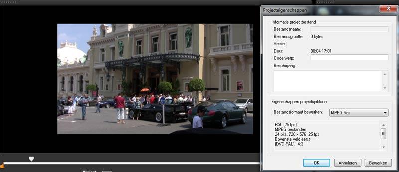 Corel-videostudio-pro-x5-beeldverhouding-project