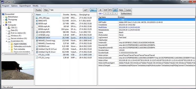 videoarchief-xmp-metadata-exiftool